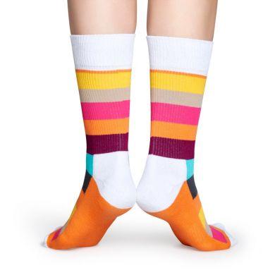 Barevné ponožky Happy Socks s proužky, vzor Stripe // kolekce Athletic