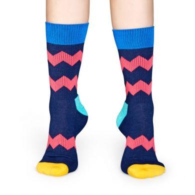 Barevné ponožky Happy Socks se zubatými pruhy, vzor ZigZag Stripes // kolekce Athletic