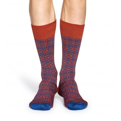 Oranžové ponožky Happy Socks, vzor Aztec // kolekce Dressed
