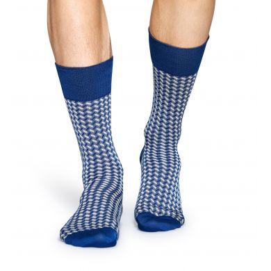 Modré ponožky Happy Socks, vzor Basket Weave // kolekce Dressed