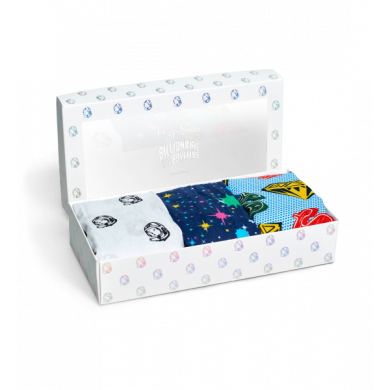 Dárkový box trenýrek Happy Socks Billionaire Boys Club - 3 páry
