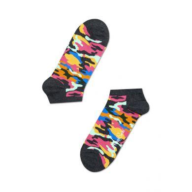 Nízké barevné ponožky Happy Socks s maskáčovým vzorem, vzor Bark