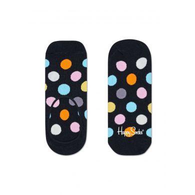 Nízké ponožky Happy Socks, vzor Big Dot černé - 3 páry