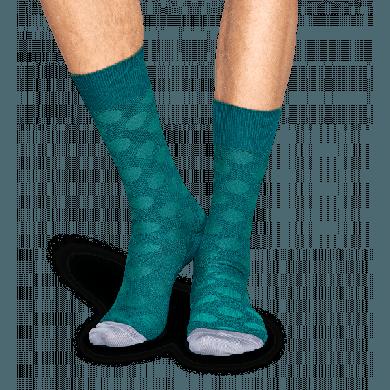 Zelené ponožky Happy Socks, vzor Big Dot // kolekce Dressed