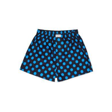 Modré trenýrky Happy Socks s tyrkysovými puntíky, vzor Big Dot