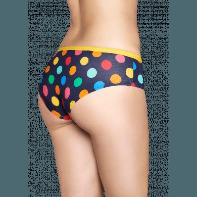 Modré kalhotky Happy Socks s barevnými puntíky, vzor Big Dot