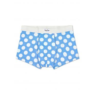 Světle modré boxerky Happy Socks s bílými puntíky, vzor Big Dot