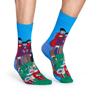 Barevné ponožky Happy Socks se vzorem Pepperland x The Beatles