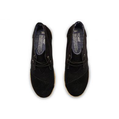 Černé dámské boty na klínku TOMS