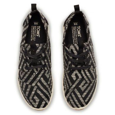 Černé dámské tenisky TOMS Tribal Del Rey