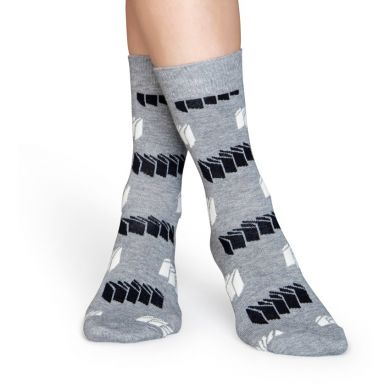 Šedé ponožky Happy Socks, vzor Blinds