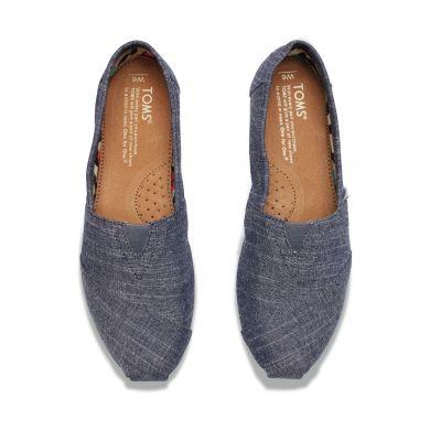 Modré dámské TOMS Chambray Alpargatas