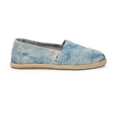 Modré dámské semišové TOMS Washed Alpargatas