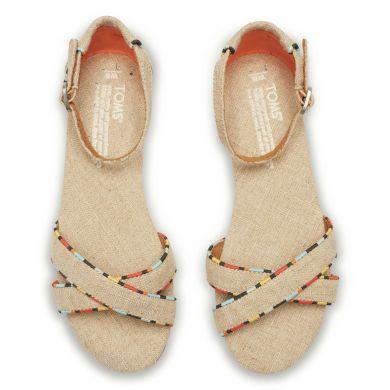 Béžové dámské sandálky TOMS Correa