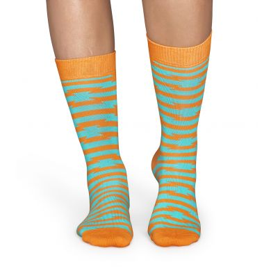 Žuté ponožky Happy Socks s tyrkysovým vzorem Barb Wire