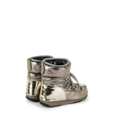 Dámské platinové sněhule Moon Boot Low Saint Moritz WP