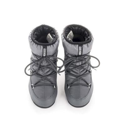 Dámské šedé sněhule Moon Boot Low Nylon WP 2