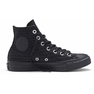 Černé Converse Chuck Taylor All Star Craft Cuir Hi