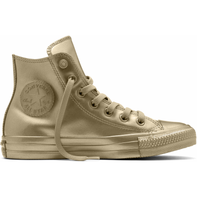 Zlaté Converse Chuck Taylor All Star Metallic Rubber Hi
