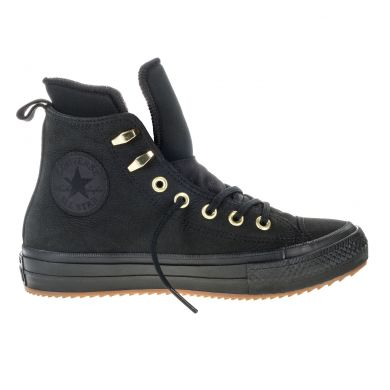 Černé Converse Chuck Tylor All Star Waterproof Nubuck Hi