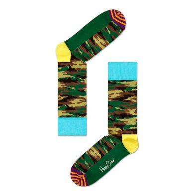 Barevné ponožky Happy Socks s maskáčovým vzorem Camo