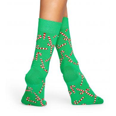 Zelené ponožky Happy Socks s barevnými cukrovinkami, vzor Candy