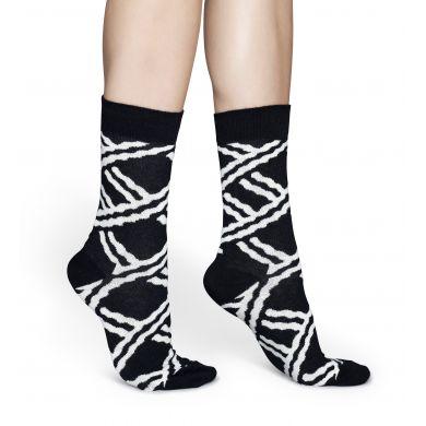 Černobílé ponožky Happy Socks se vzorem Chains