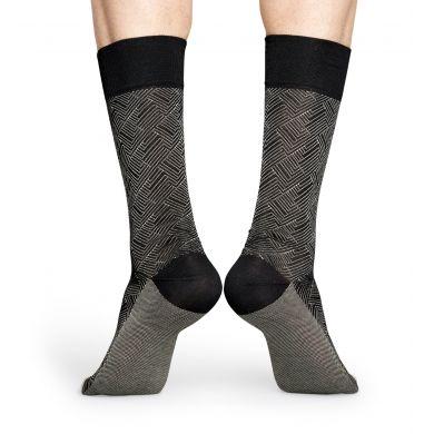 Šedé ponožky Happy Socks, vzor Circuit // kolekce Dressed