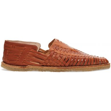 Cognac Leather Huarache Sandal