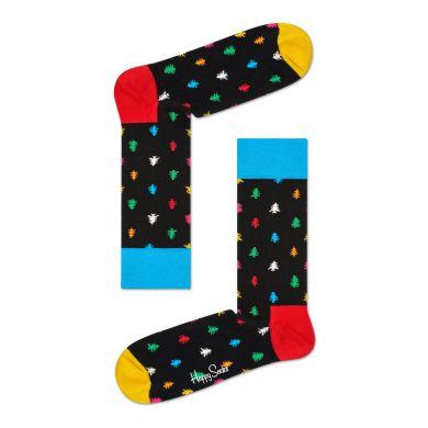 Barevné ponožky Happy Socks s vánočními stromky, vzor Conifer