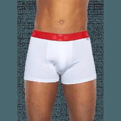 3x Solid boxerky Happy Socks, bílé