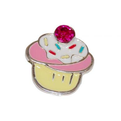 Pink Sparkle Cupcake - Metal