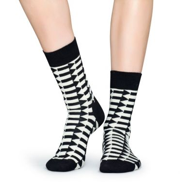 Černobílé ponožky Happy Socks se šipkami, vzor Direction