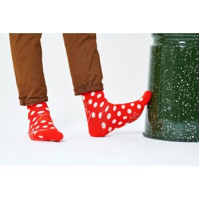Červené ponožky Happy Socks x Disney - vzor Twinkle Twinkle