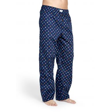 Modré kalhoty Happy Socks s barevnými tečkami, vzor Dot