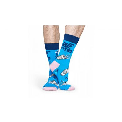 Barevné ponožky Happy Socks – God Saves // x Pasta Oner