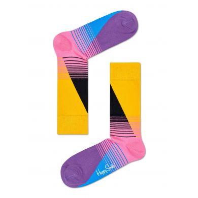 Barevné (žluté) ponožky Happy Socks se vzorem Eighties