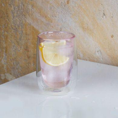 Růžová termo sklenička Fundamental Berlin Doppler Glass