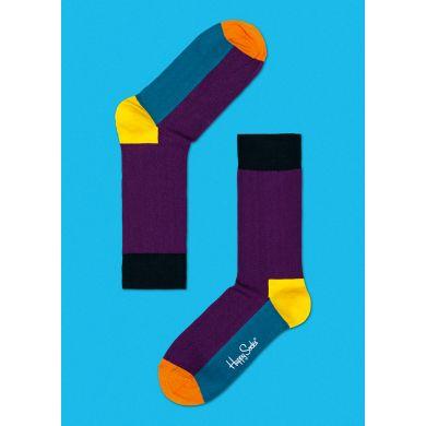 Fialové ponožky Happy Socks s barevným vzorem Five Color