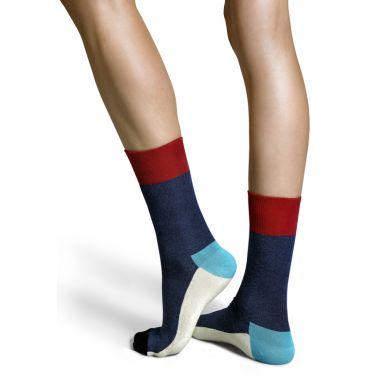 Modré ponožky Happy Socks s barevným vzorem Five Color