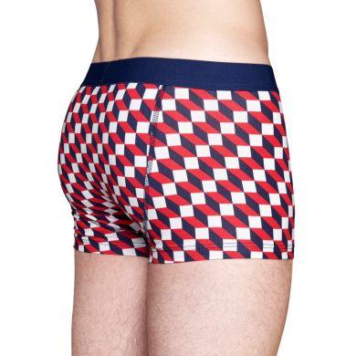 Barevné (červené) boxerky Happy Socks se vzorem Filled Optic
