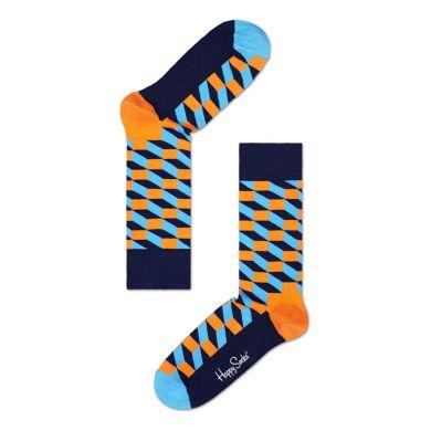 Modro-žluté ponožky Happy Socks se vzorem Filled Optic