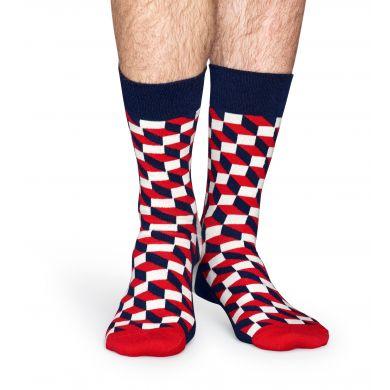 Barevné ponožky Happy Socks se vzorem Filled Optic