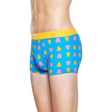 Tyrkysové boxerky Happy Socks s barevným ovocem, vzor Fruit