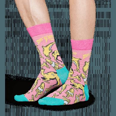 Barevné ponožky Happy Socks – Don´t panic // x Pasta Oner