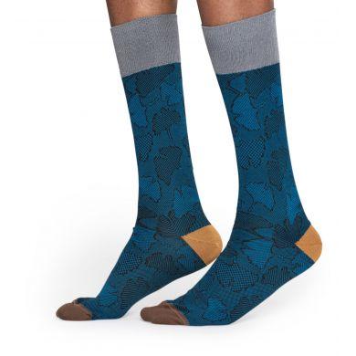 Modré ponožky Happy Socks, vzor Ginko // kolekce Dressed