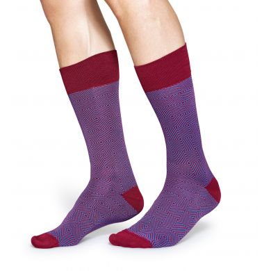 Fialové ponožky Happy Socks, vzor Goose Eye // kolekce Dressed