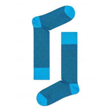 Tyrkysové ponožky Happy Socks, vzor Goose Eye // kolekce Dressed