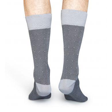 Šedé ponožky Happy Socks, vzor Goose Eye // kolekce Dressed