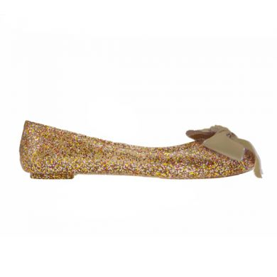 Jelly Ballerina in Glitter Gold